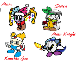 Kirby characters Pg 1 by DimentedDestiny36O