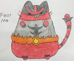 Incineroar Pusheen by Pikaian
