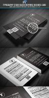 Typography Studio quick response business card by Lemongraphic