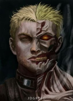 Reiner the armor titan by JDgreed18
