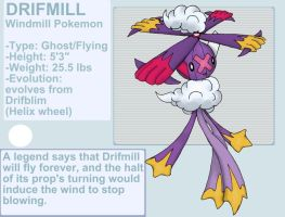 Drifmill fakemon by byona