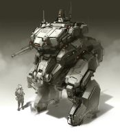 Mech Sketch by ProgV