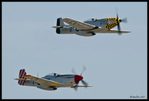A pair of P-51s by AirshowDave