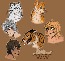 Tiger cat shifter adopts [0/3] by wolf-wishes