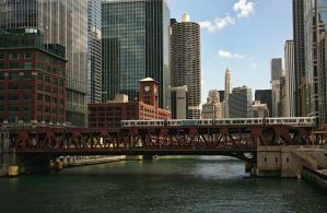 El Bridge in Chicago by NDCott