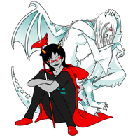 Terezi and dragonMom by defeatedart