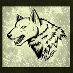Tribal Design: Realistic Wolf by ControlledChaotic