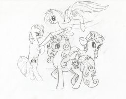 Cutie Mark Crusaders (ALL GROWN UP) by 12girlwithadream
