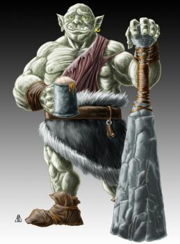 Commission - Pal the Ogre by AndrewDeFelice