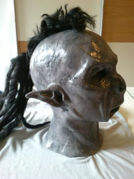Orc mask with mohawk hair by WulWhite