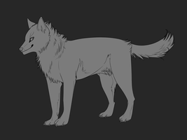 Free Wolf Lineart by Capukat