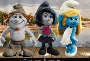 The Smurfs 2 Vexy,Hackus and Smurfette. by Smurfette123
