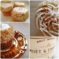 Champagne Cupcakes by cake4thought