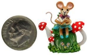 STORY BOOK Wee MOUSE MUSHROOM TEAPOT by WEE-OOAK-MINIATURES