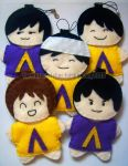 Arashi - AAA '08 Plushies by TheStarseeker