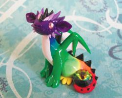 Oddball Rainbow Dragon by DragonsAndBeasties