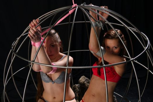 Two girls in a cage 3 by Infomediastudios