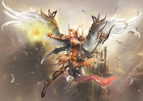 Angel of fighting spirit by antilous