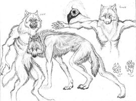 werewolf sketches by sioSIN