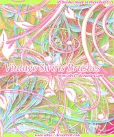 Vintage Swirls Photoshop Brushes by Coby17