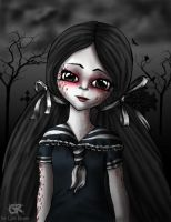 Living Dead Doll maggot by grimtalesreaper