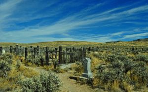Bannack Ghost Town Cemetery by GeminiMuse