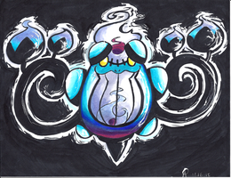 Seismitoad Chandelure Fusion by Toldentops