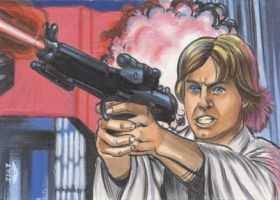 LUKE SKYWALKER 2 SKETCH CARD by AHochrein2010