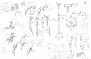 Ga'Hoole - Weapon Concepts by PelliFeathers