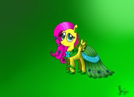 Fluttershy in the gala by jorge123esp