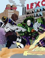 NICK FURY  vs LEX LUTHOR by gagex07