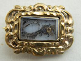 Vintage Mourning Pin by Stock-Karr