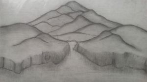 NGW-Mountains in Graphite by NerdyGirlWorks