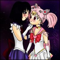 ChibiMoon x Saturn by Nephrae