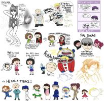 Persona 4 doodles ptII by Chocoreaper