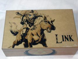 Wood Box: Young Link [Pyrography / Woodburning] by dcmorais
