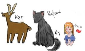 Prongs, Padfoot and a fan OC by alinka