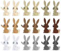 MLP: Rabbit Pack by ErisGrim