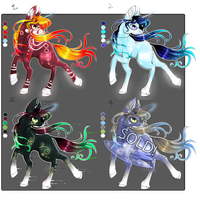 Unicorn Adopts (CLOSED) by Felisnix