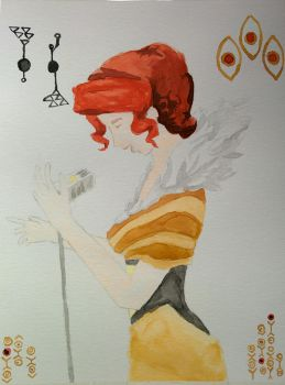 Red watercolor by adrian22495