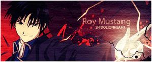 Roy Mustang Art Sign by ShidoLionheart