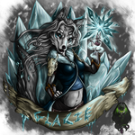 Glacie the Wolf by DragonGirl787
