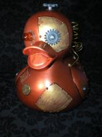 Large Steampunk Rubber Duck by Oriana-X-Myst