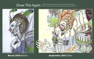 Draw this again_Black Opera-The Clown by PhysoLou