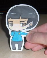 gift 1: spock paperchild by Sunchildkate