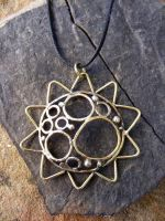 Molten Sun Necklace by MoonLitCreations