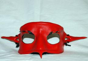 Devil Leather Mask by Kaotiksymphony-Stock