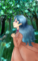 Lost in an enchanted forest by fuwafuwamarshmellow