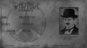 Personal BioShock Rapture Identification Card by redsteal21
