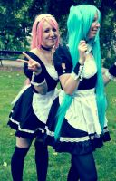 Miku and Moka Maids by JaMs-Yy